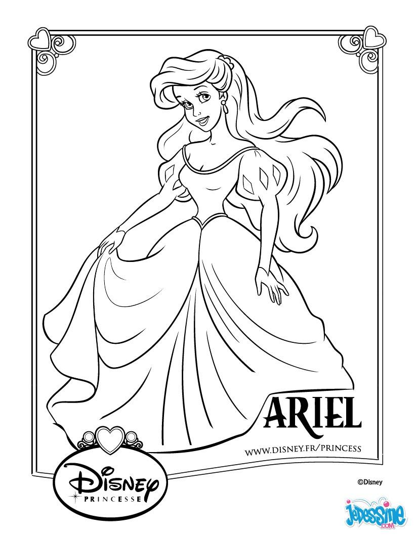 Coloriages Ariel - Fr.hellokids concernant Coloriage Princesse Sirene