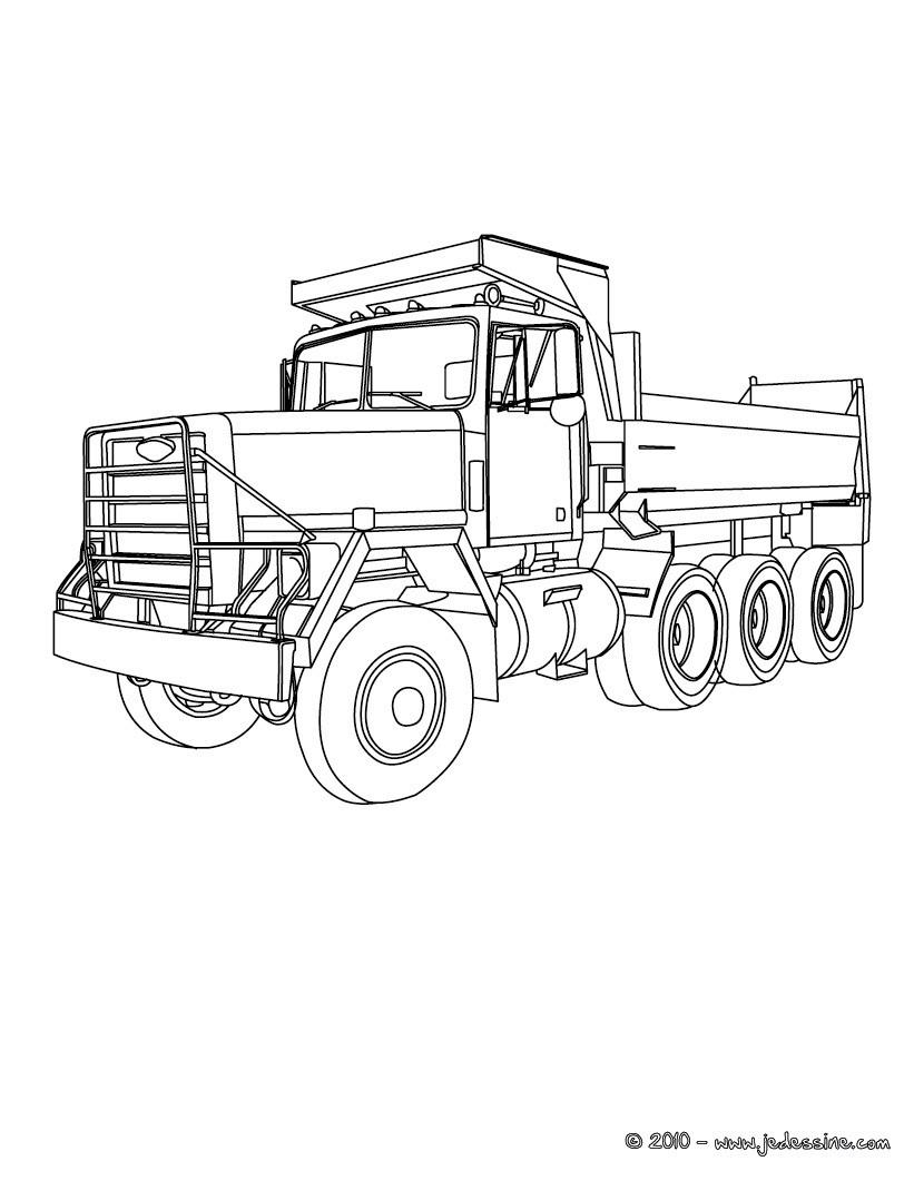 Coloriages Camion Truck Coloriage Gratuit - Fr.hellokids dedans Coloriage Camion De Pompier Gratuit À Imprimer