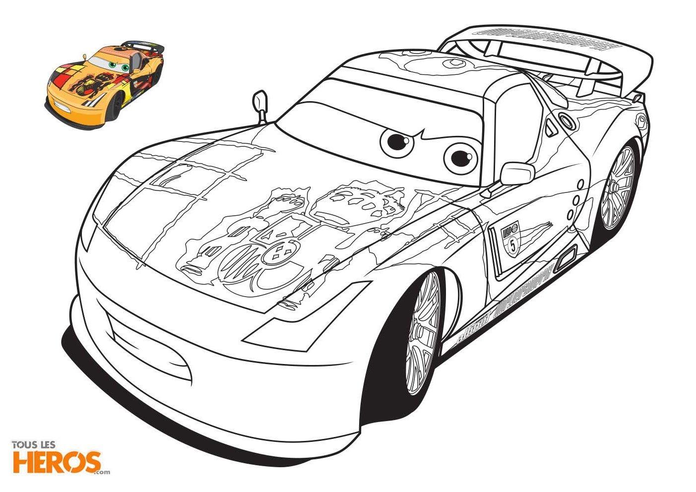 Coloriages Cars À Imprimer Gratuitement Sur Le Blog De Tous pour Le Jeu De La Voiture Jaune