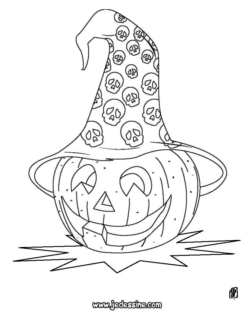 Coloriages Citrouilles Halloween - 30 Coloriages D'halloween à Dessin Halloween Citrouille A Imprimer Gratuit