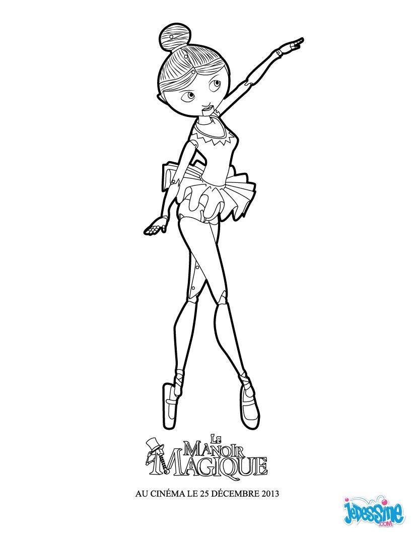 Coloriages Clara La Petite Danseuse - Fr.hellokids à Dessin De Danseuse A Imprimer