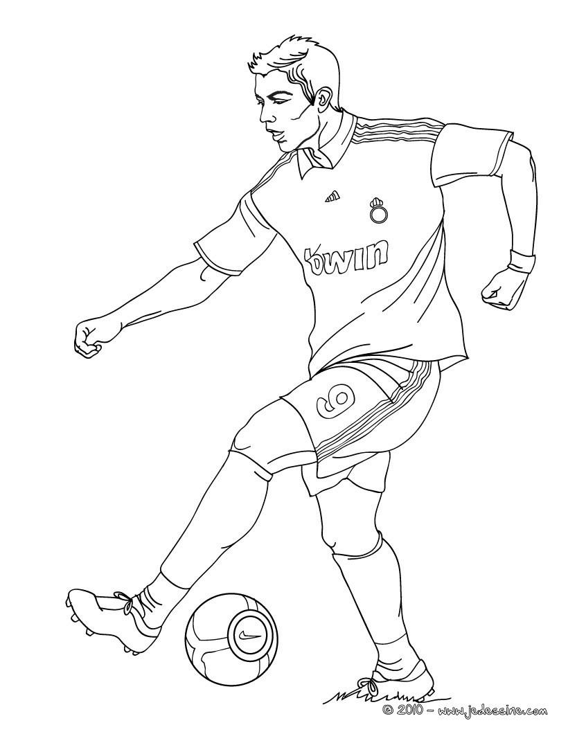 Coloriages Cristiano Ronaldo, Cr7 - Fr.hellokids à Coloriage De Foot En Ligne