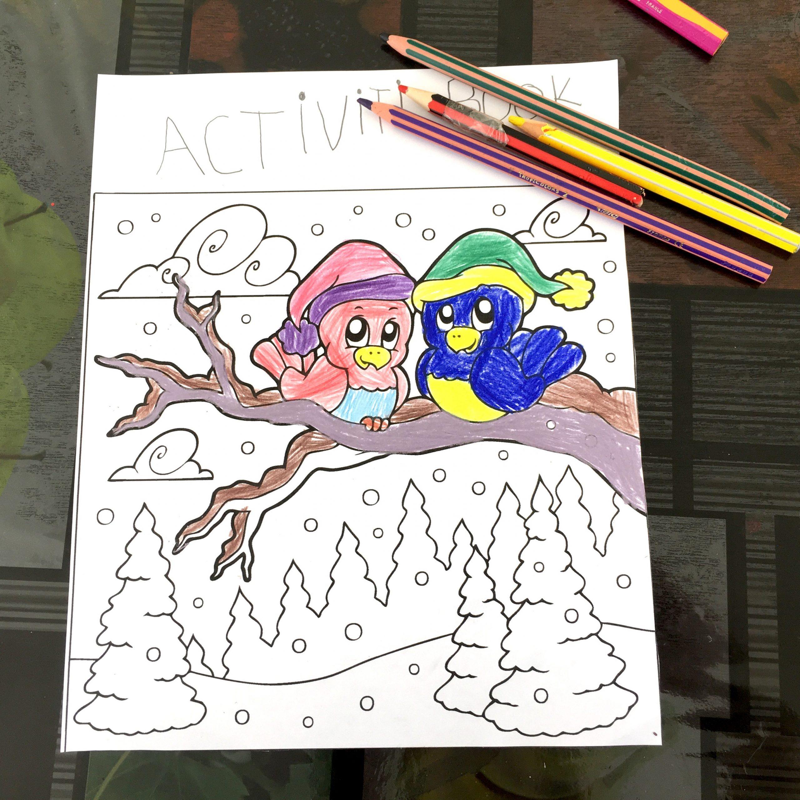 Coloriages De Noël À Imprimer Gratuitement - Un Jour Un Jeu destiné Jeux De Oiseau Gratuit