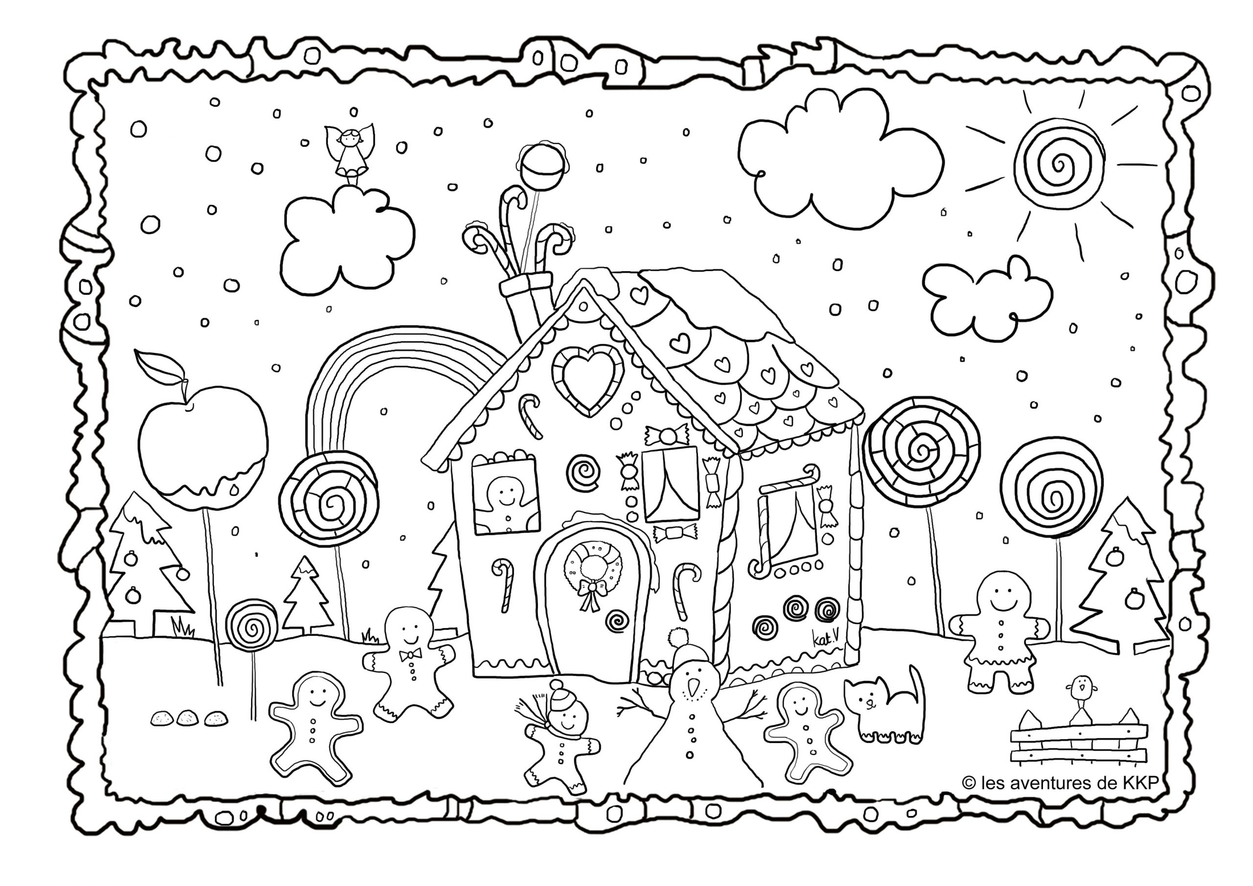 Coloriages De Noël | Les Aventures De Kkp avec Dessin A Colorier De Noel Gratuit A Imprimer