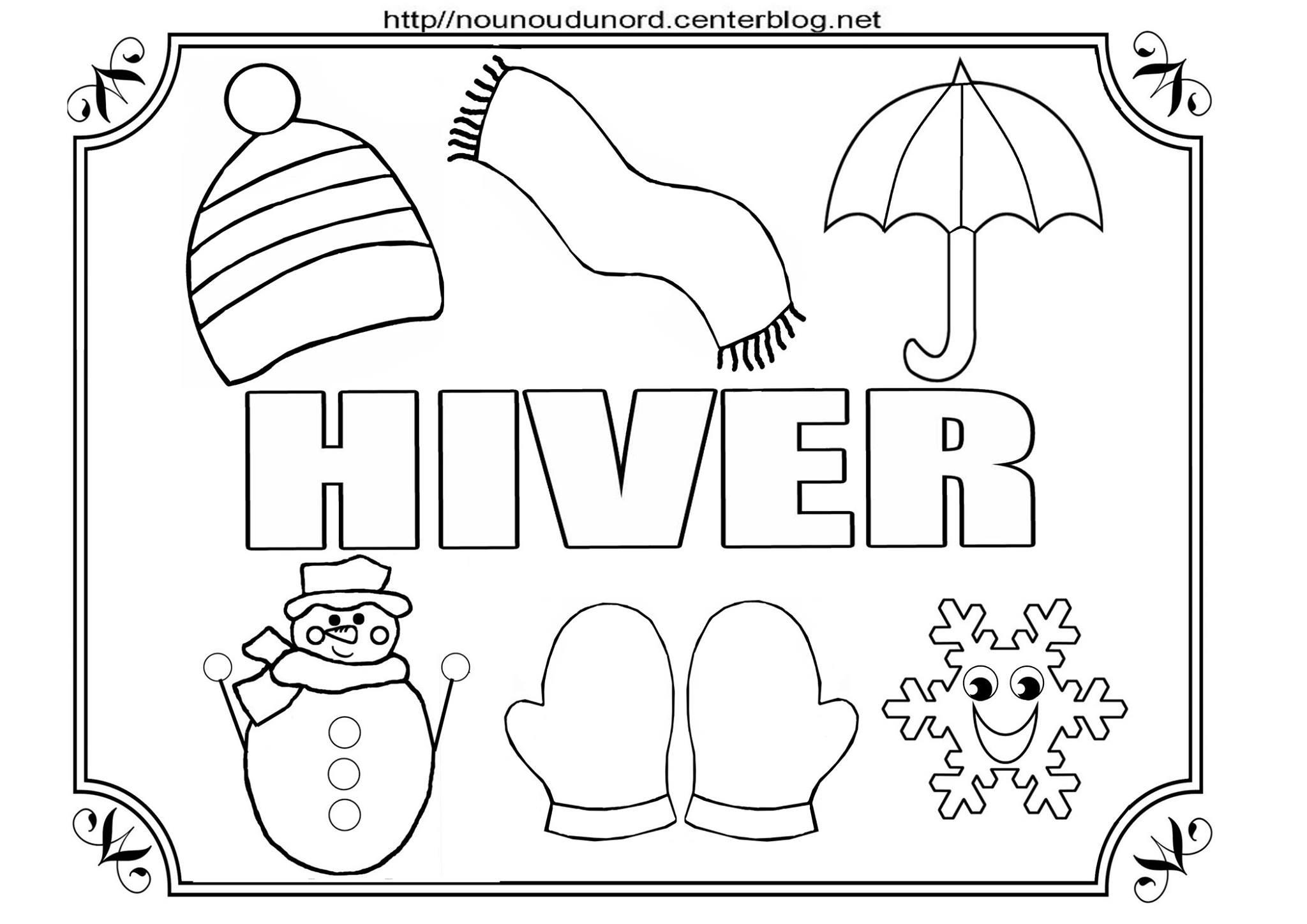 Coloriages Hiver - Assistante Maternelle Argenteuil - Orgemont concernant Coloriage Hiver Maternelle