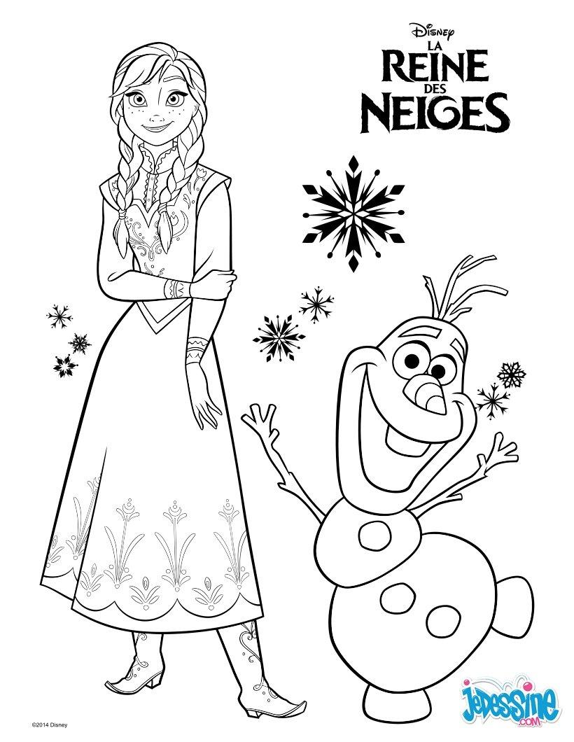 Coloriages La Reine Des Neiges - Elsa - Fr.hellokids intérieur Reine Des Neiges Dessin À Colorier