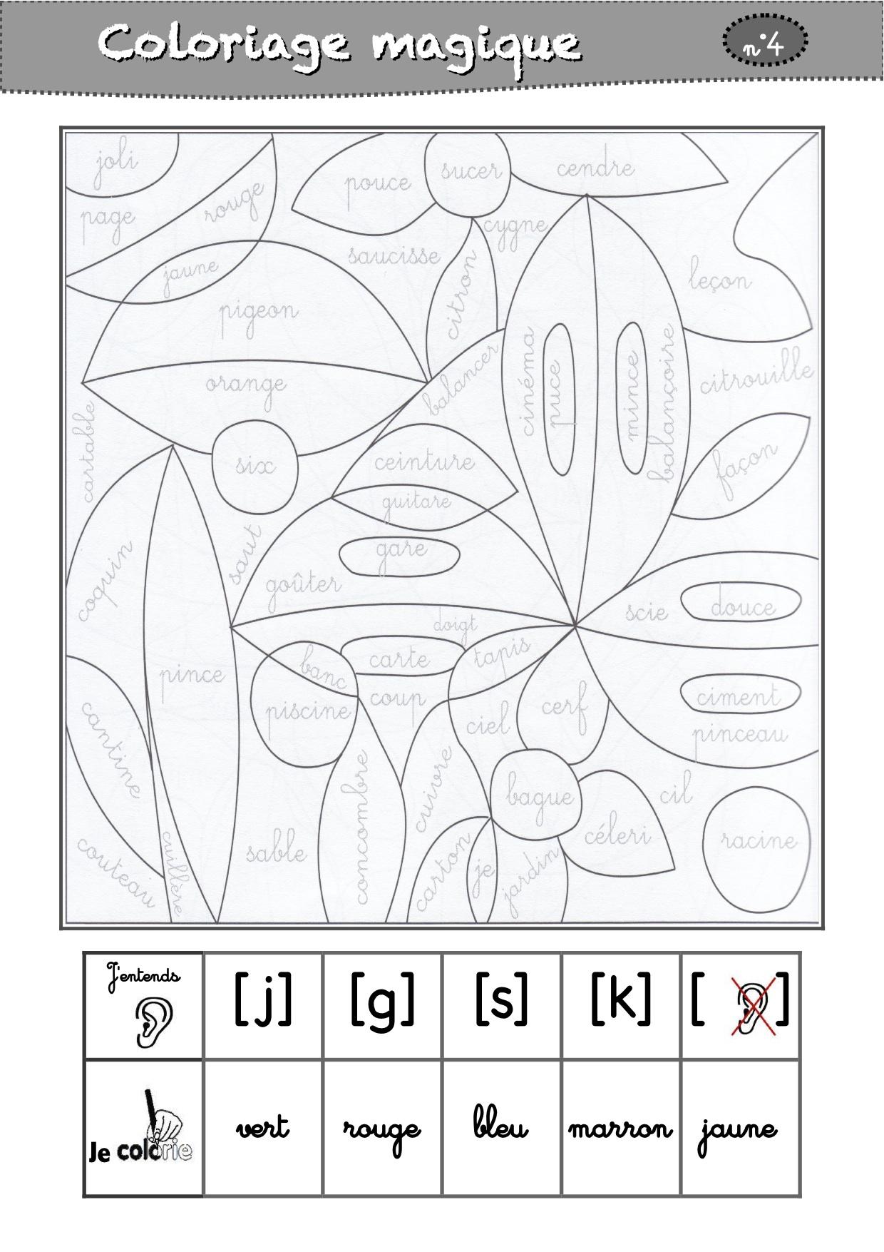 Coloriages Magiques Cp - La Classe De Luccia ! dedans Coloriage Magique Gs Cp