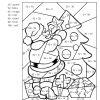 Coloriages Magiques - Dans La Classe De Maikresse Val dedans Coloriage Codé Noel