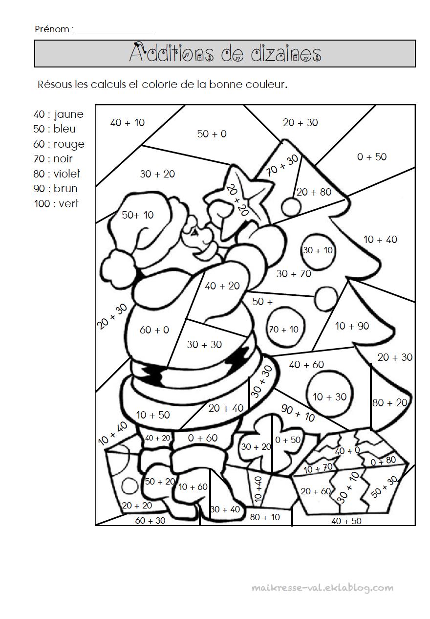 Coloriages Magiques - Dans La Classe De Maikresse Val pour Coloriage De Calcul