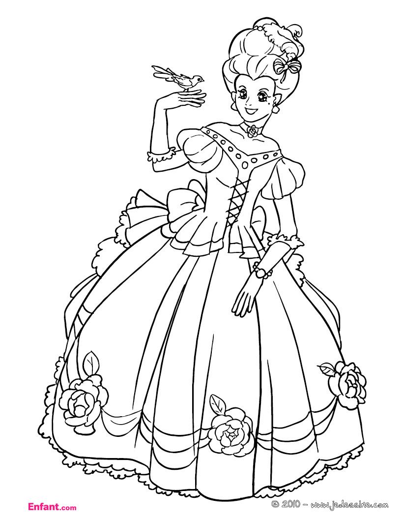 Coloriages Pour Fille: La Princesse intérieur Coloriage Princesse Sirene