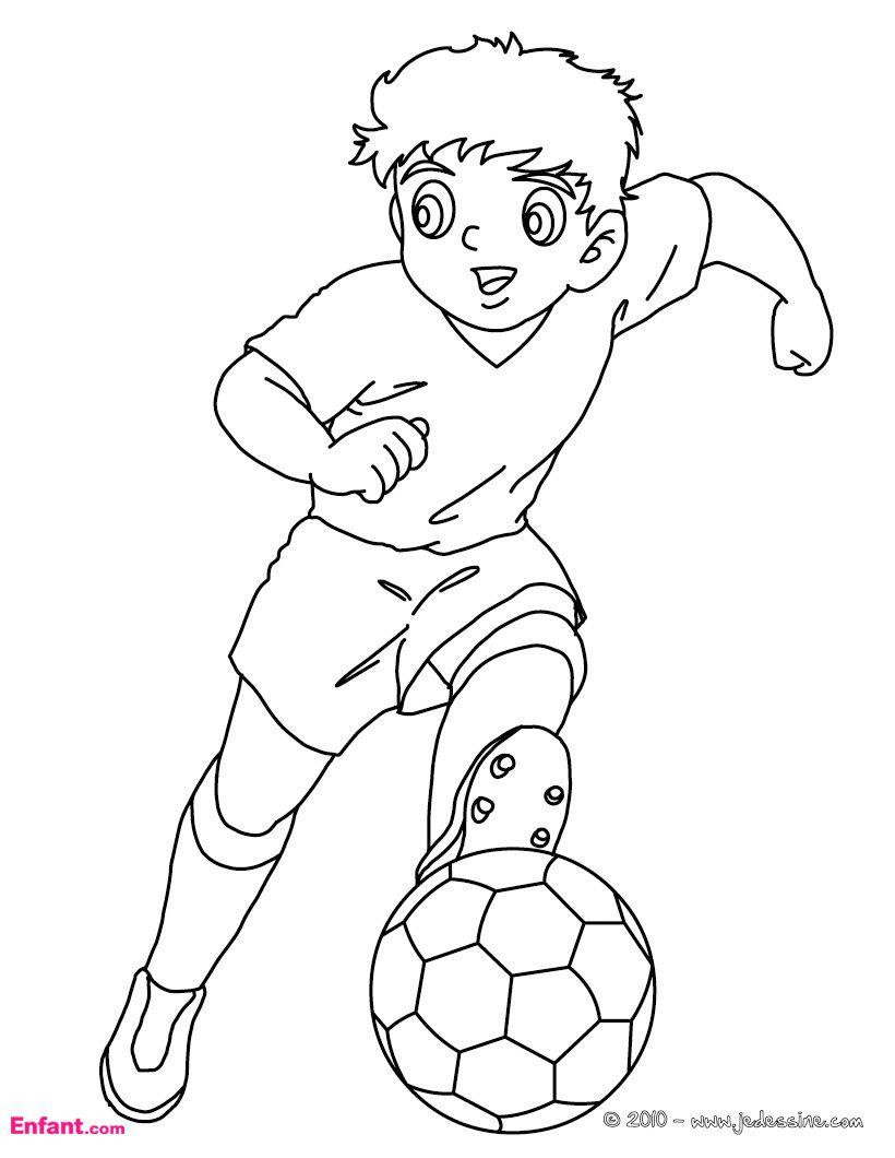 Coloriages Pour Garçon: Le Football destiné Coloriage De Foot En Ligne