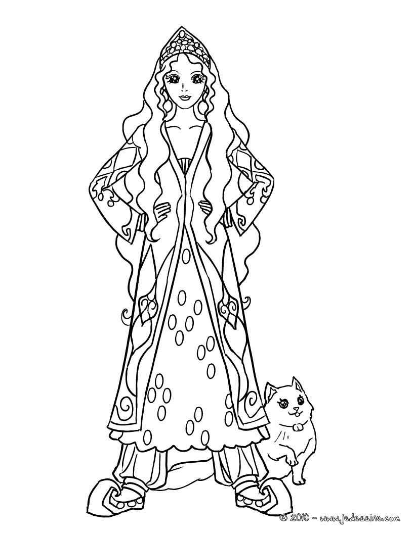 Coloriages Princesses - Fr.hellokids à Princesse À Colorier Gratuit