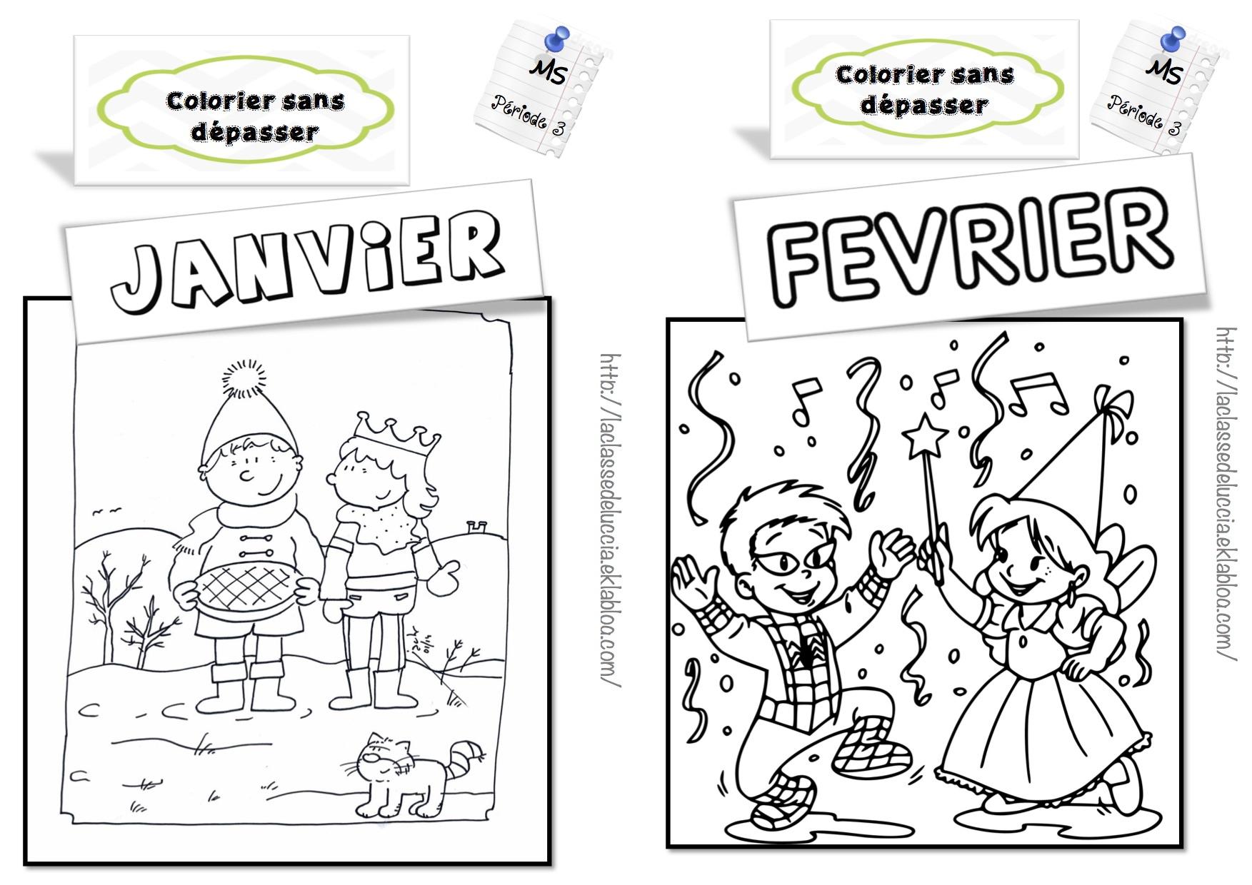 Colorier Sans Dépasser Ms - La Classe De Luccia ! tout Coloriage Hiver Maternelle