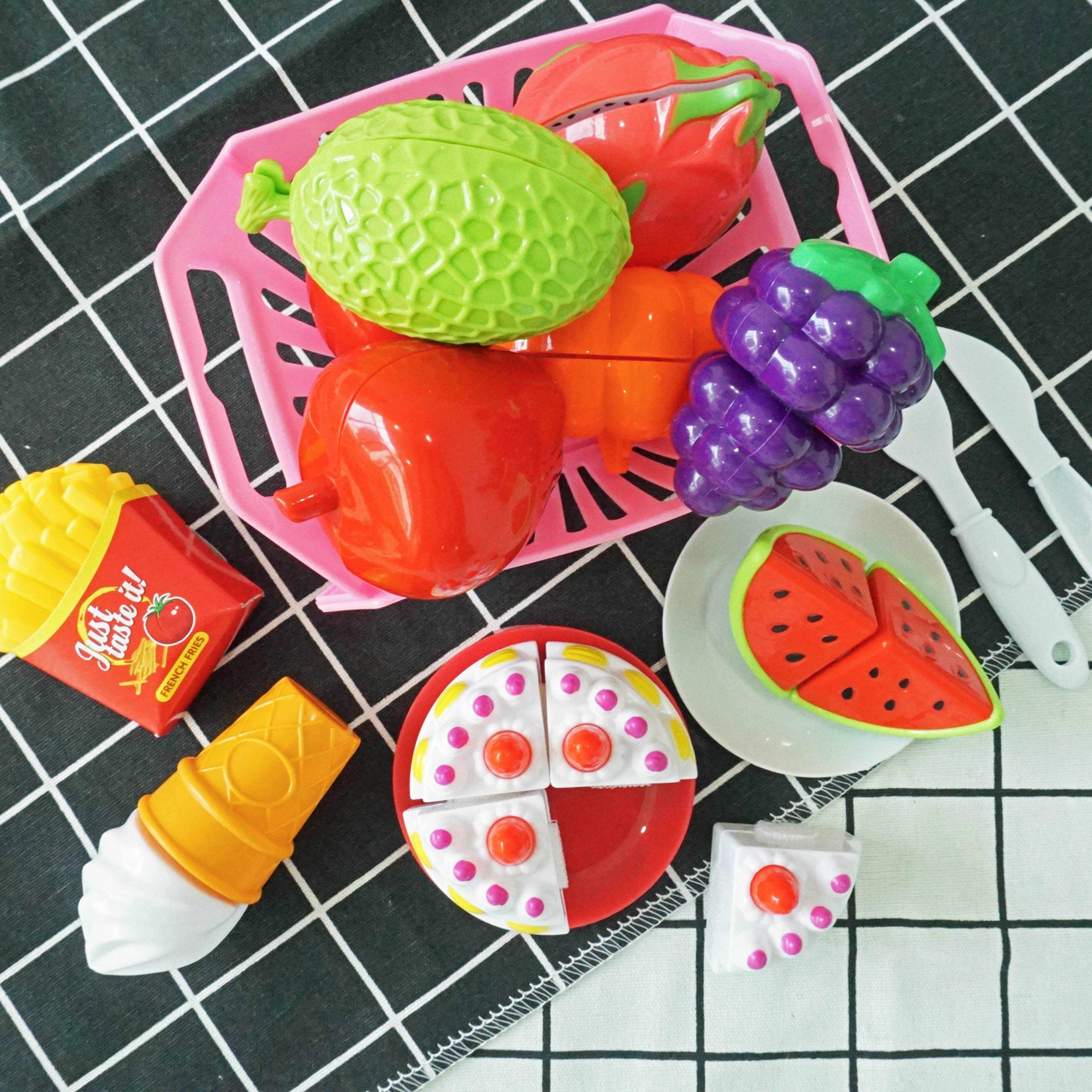Combinaison Gratuite Jouets Fruits Légumes Nourriture pour Jeux De Fruit Et Legume Coupé