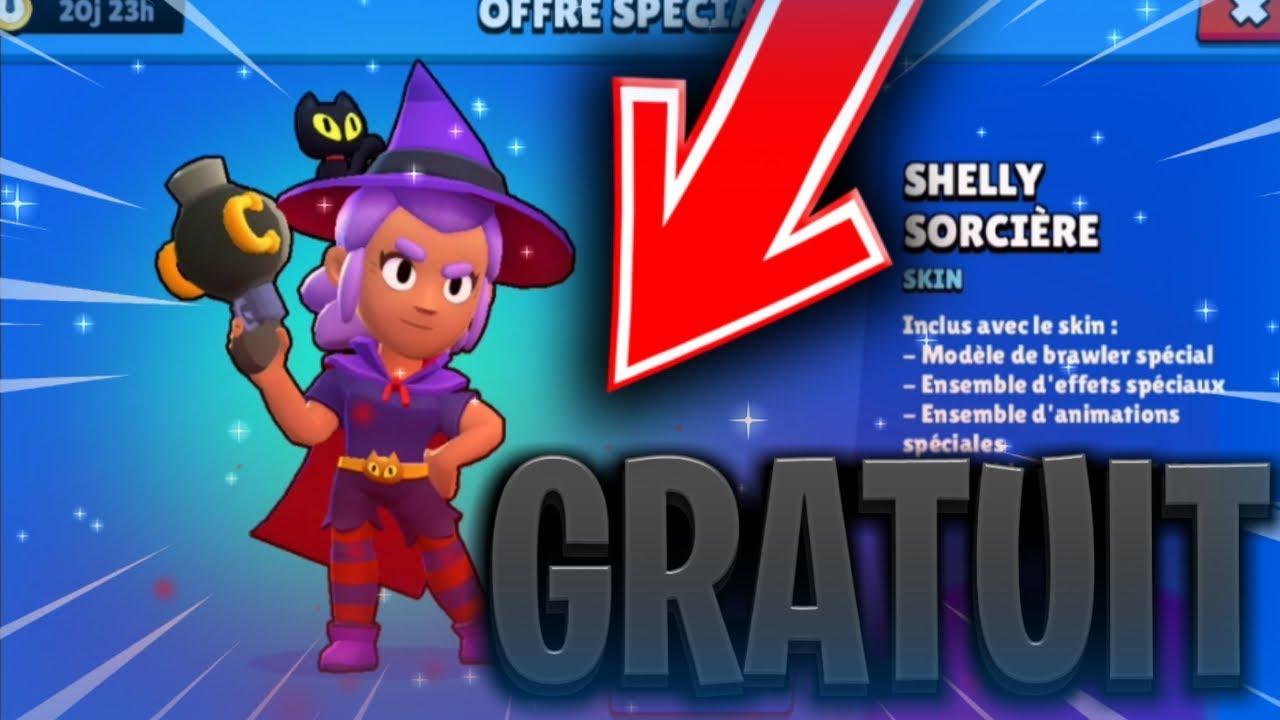 Comment Avoir Shelly Sorciere Gratuitement Sur Brawl Stars ! Je Dec On Peut  Pas L'avoir Gratuite. avec Image De Sorcière Gratuite