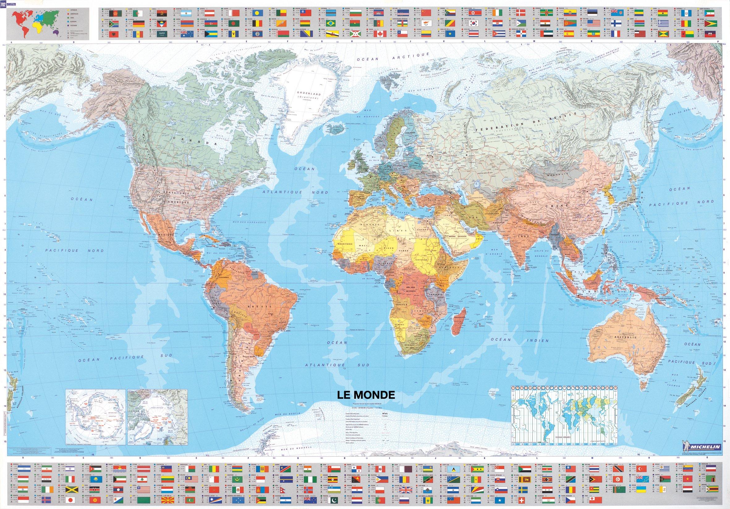 Comment Choisir Une Carte Du Monde : Nos Coups De Cœur - Gps concernant Carte Du Monde Avec Capitales Et Pays