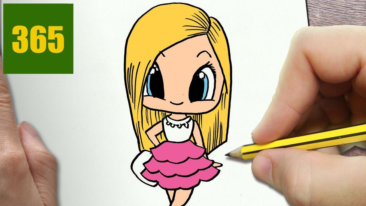Comment Dessiner Barbie Kawaii Étape Par Étape – Dessins Kawaii Facile concernant Dessin Facile Pour Fille