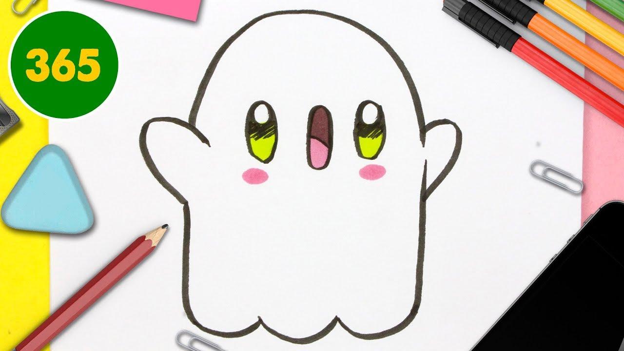 Comment Dessiner Fantôme Kawaii Étape Par Étape – Dessins Kawaii Facile -  Comment Dessiner Halloween pour Apprendre À Dessiner Halloween