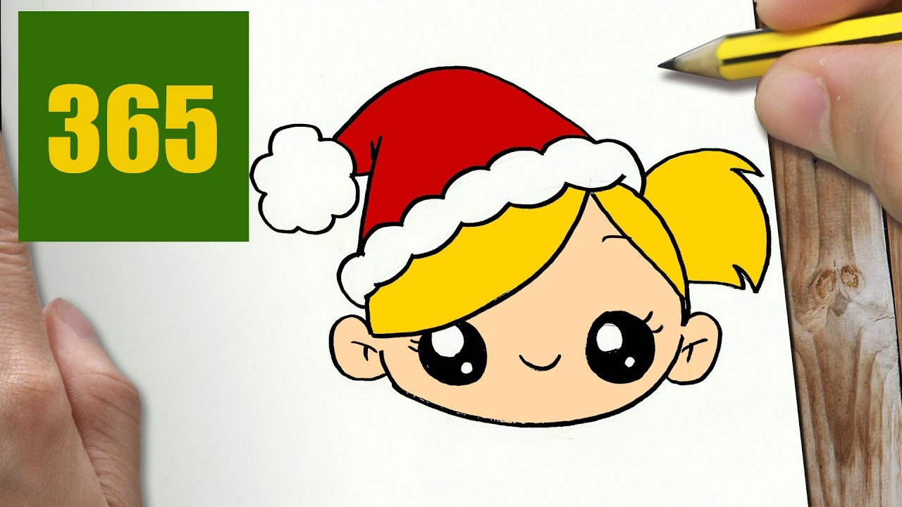 Comment Dessiner Fille De Noël Kawaii Étape Par Étape – Dessins Kawaii  Facile destiné Dessin Facile Pour Fille