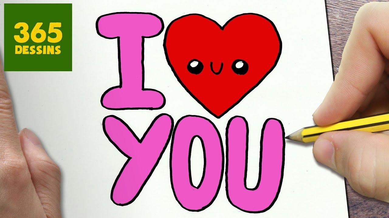 Comment Dessiner I Love You Fille Kawaii Étape Par Étape – Dessins Kawaii  Facile tout Dessin Facile Pour Fille