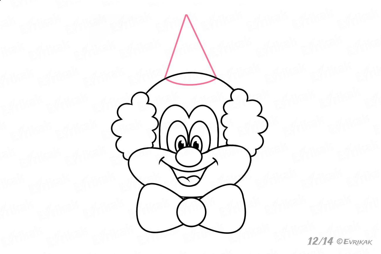 Comment Dessiner La Tête Du Clown Au Crayon Progressivement avec Coloriage Tete De Clown