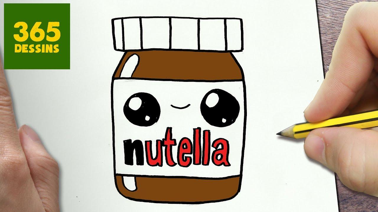 Comment Dessiner Nutella Kawaii Étape Par Étape – Dessins Kawaii Facile avec Image Facile A Reproduire