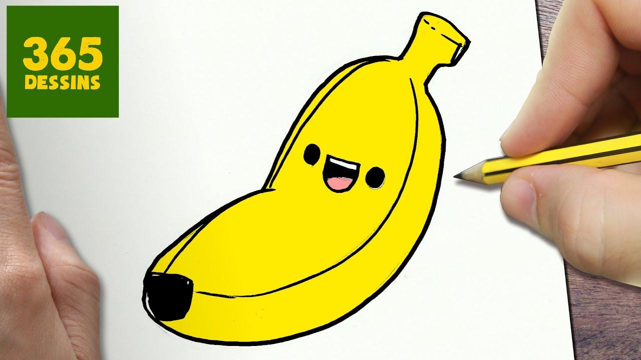 Comment Dessiner Plantain Kawaii Étape Par Étape – Dessins Kawaii Facile tout Dessiner Une Banane