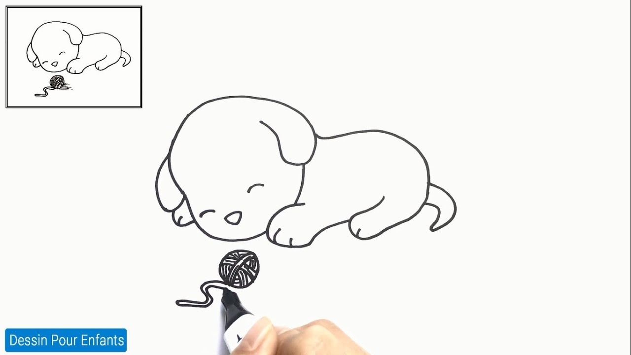 Comment Dessiner Un Chien Facilement Etape Par Etape 9 – Dessin Chien pour Apprendre A Dessiner Des Animaux Facilement Et Gratuitement