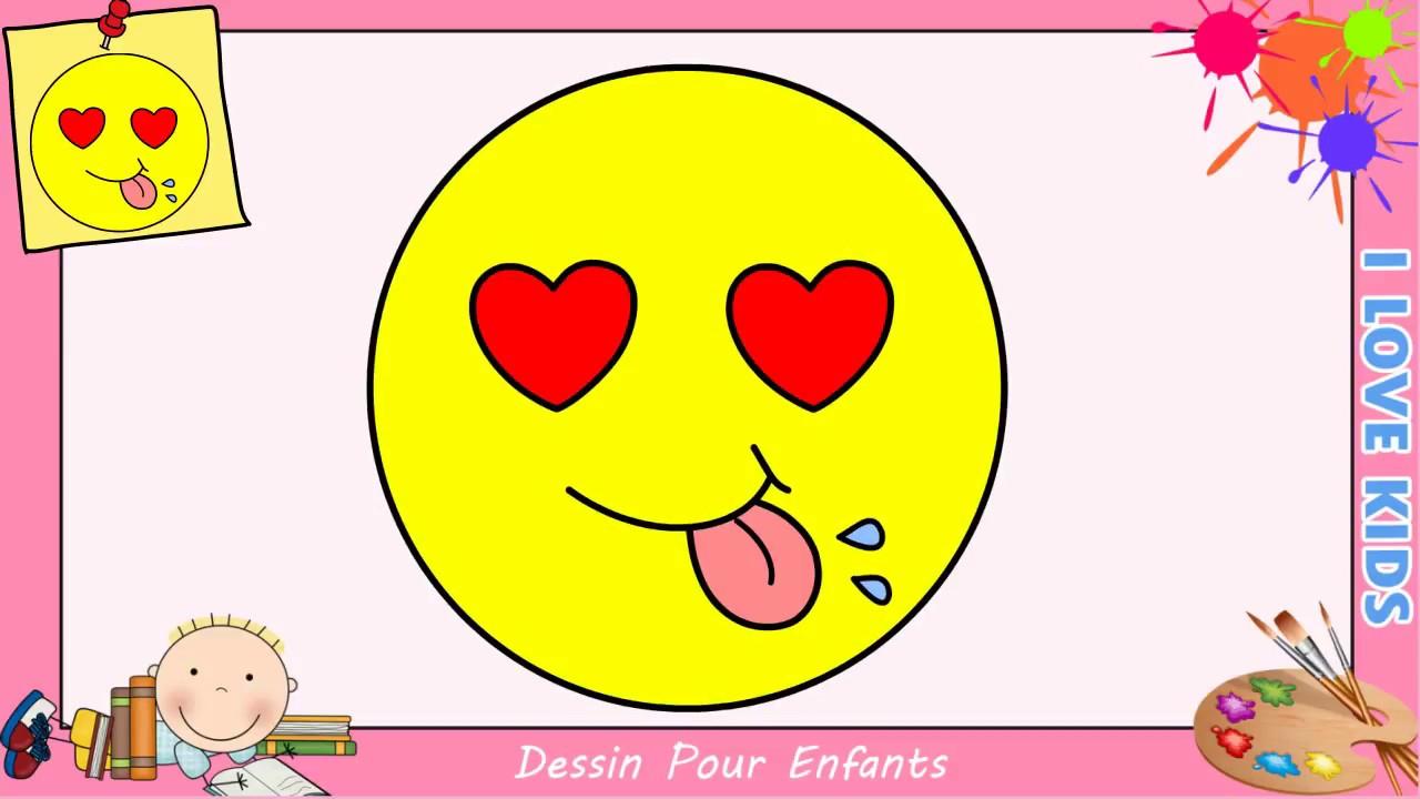 Comment Dessiner Un Emoji Kawaii & Facile Pour Enfants - Dessin Kawaii 3 tout Dessin Facile Pour Fille