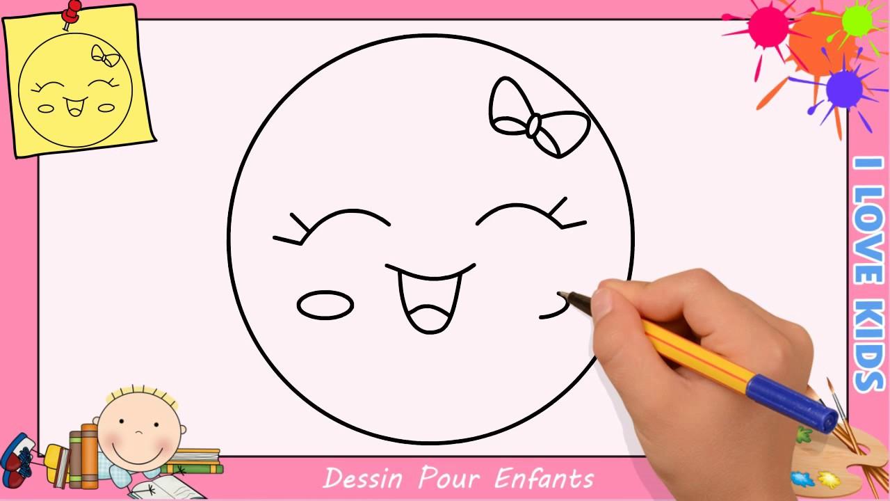 Comment Dessiner Un Emoji Kawaii & Facile Pour Enfants - Dessin Kawaii 9 destiné Dessin Facile Pour Enfant