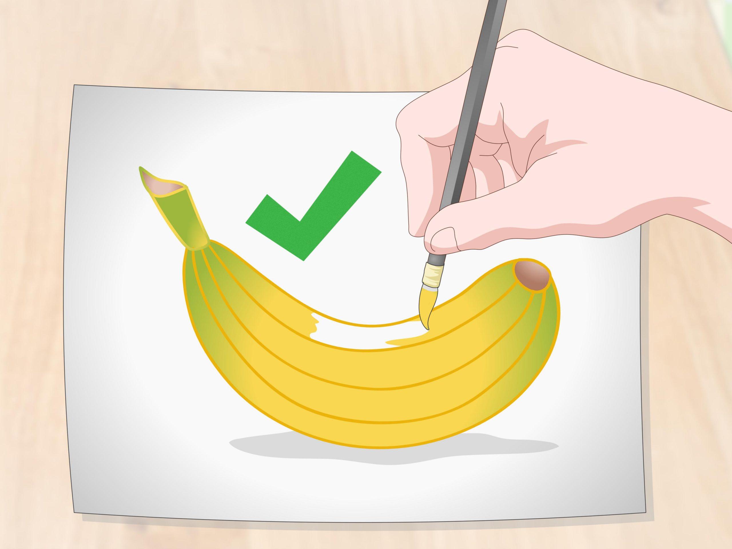 Comment Dessiner Une Banane: 10 Étapes (Avec Images) destiné Dessiner Une Banane