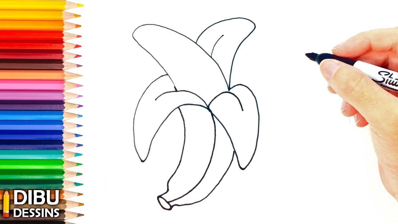Comment Dessiner Une Banane Étape Par Étape serapportantà Dessiner Une Banane