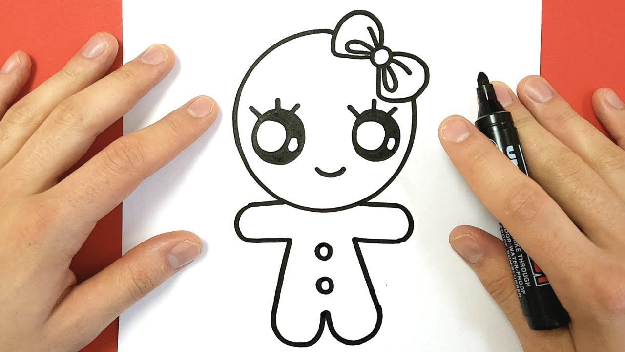 Comment Dessiner Une Fille Pain Épice Kawaii encequiconcerne Dessin Facile Pour Fille