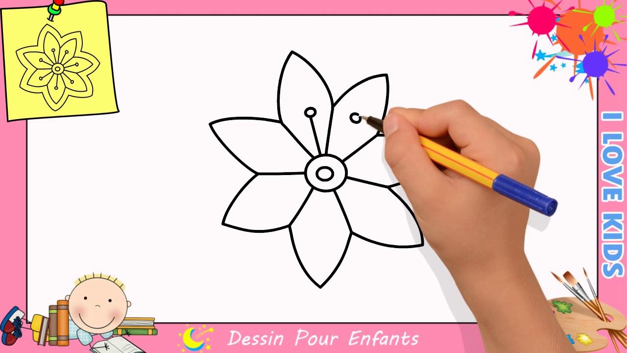 Comment Dessiner Une Fleur Facilement Etape Par Etape Pour Enfants 15 serapportantà Dessin Facile Pour Enfant