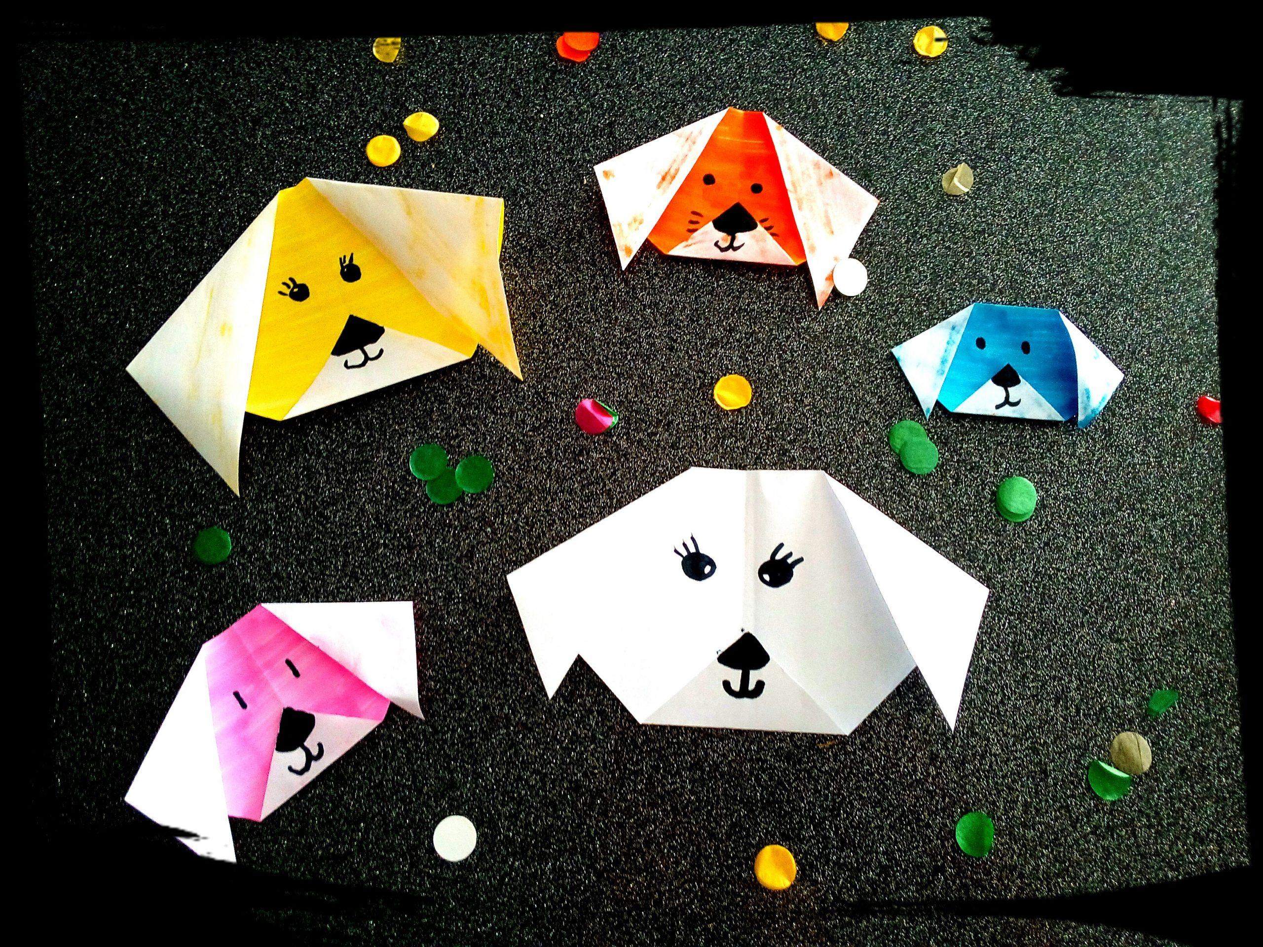 Comment Faire Un Pliage Chien Origami Facile Pour Les Petits dedans Activités Manuelles Sur Les Animaux