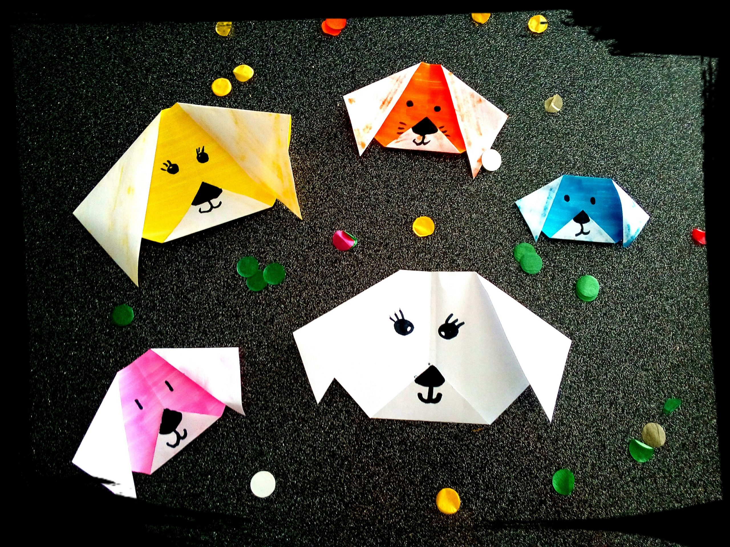Comment Faire Un Pliage Chien Origami Facile Pour Les Petits pour Activité Manuelle Animaux