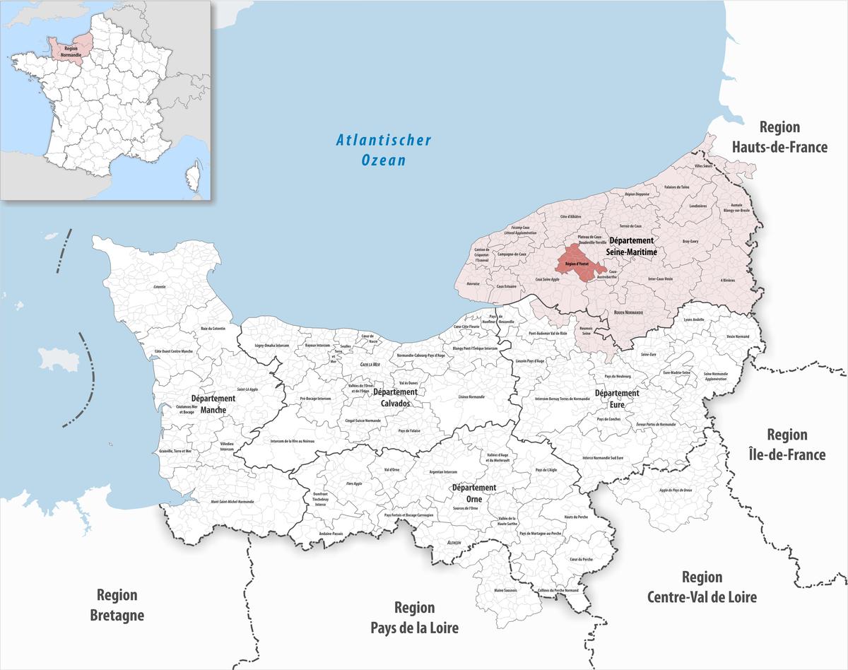 Communauté De Communes De La Région D'yvetot – Wikipedia tout Departement 22 Region