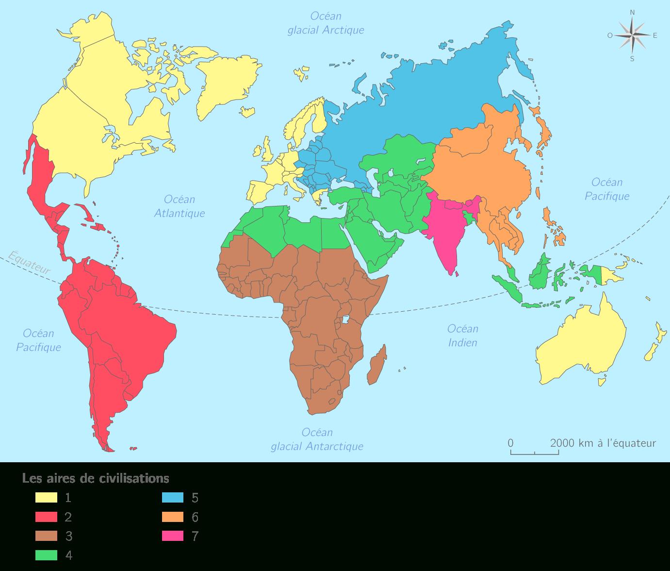 Compléter La Carte De La Diversité Culturelle Du Monde - 4E pour Carte Du Monde À Compléter En Ligne