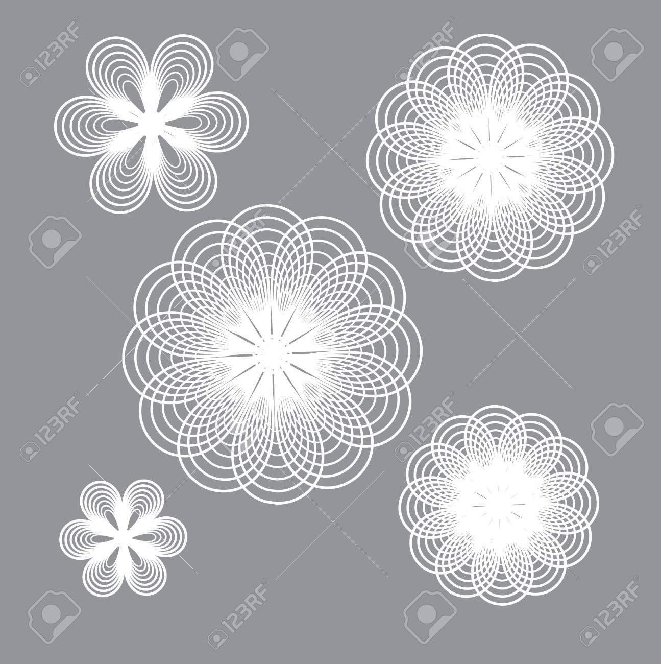 Composition De La Géométrie. Symétrie Fleur De La Ligne. à Symétrie En Ligne