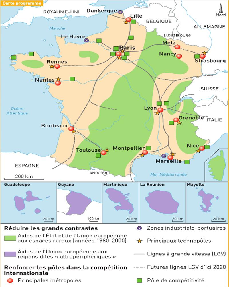 Comprendre Qu'un Espace Est Organisé | Questionner Le Monde à Carte De France Ce2