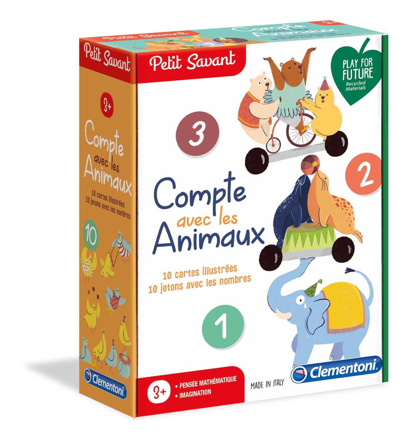 Compte Avec Les Animaux - Clementoni Petit Savant avec Chiffre Pour Enfant