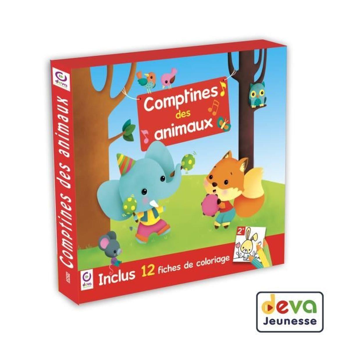 Comptines Des Animaux - Inclus Cahier De Coloriage Enfant à Cahier De Coloriage Enfant
