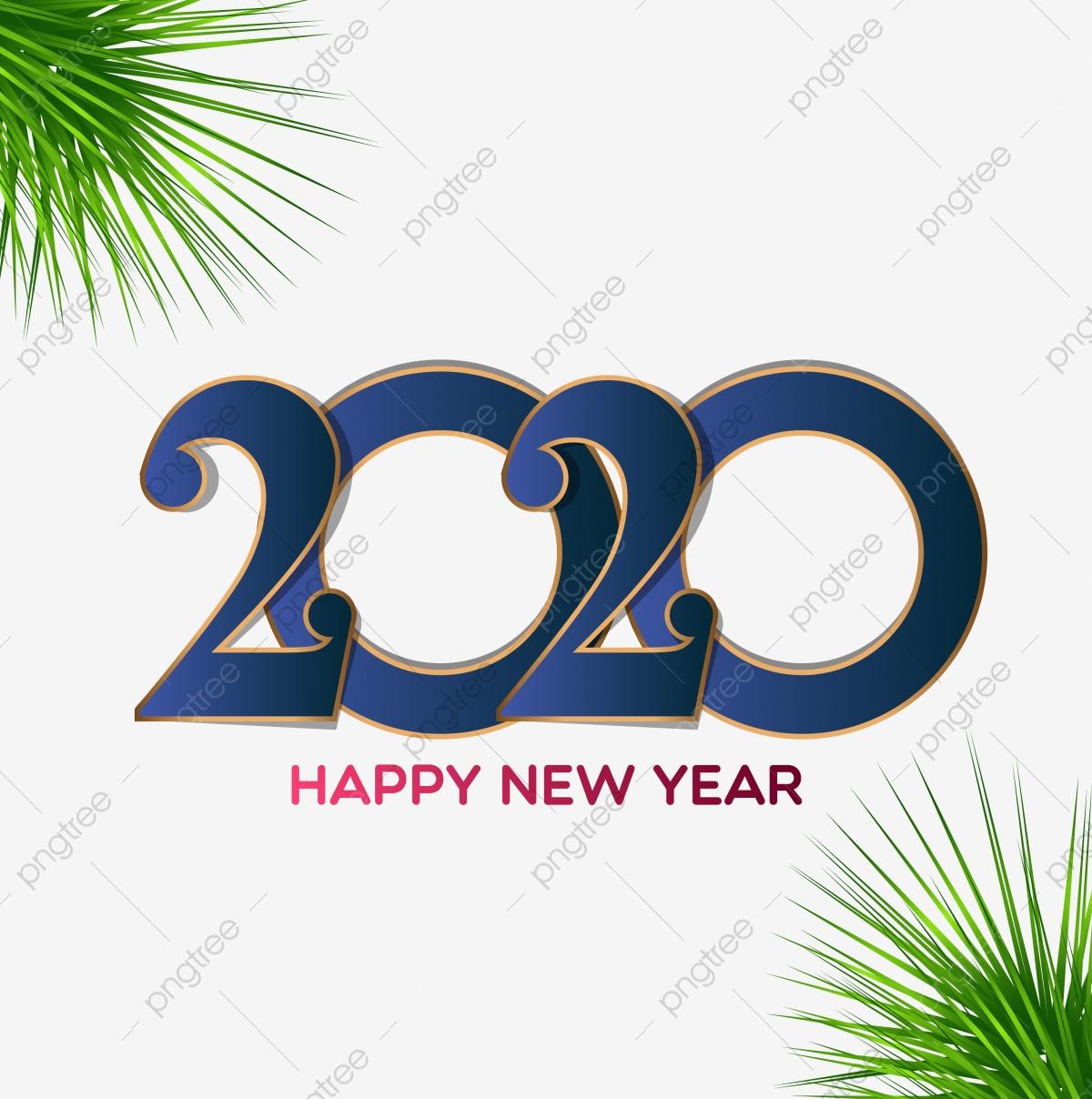Conception De Carte De Voeux Bonne Année 2020, Nouvelle destiné Carte De Voeux À Télécharger