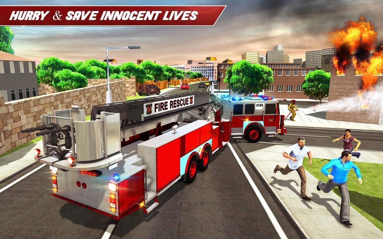 Conduire Camion Pompier 911 Pompiers Jeux Moteur Pour avec Jeu De Pompier Gratuit
