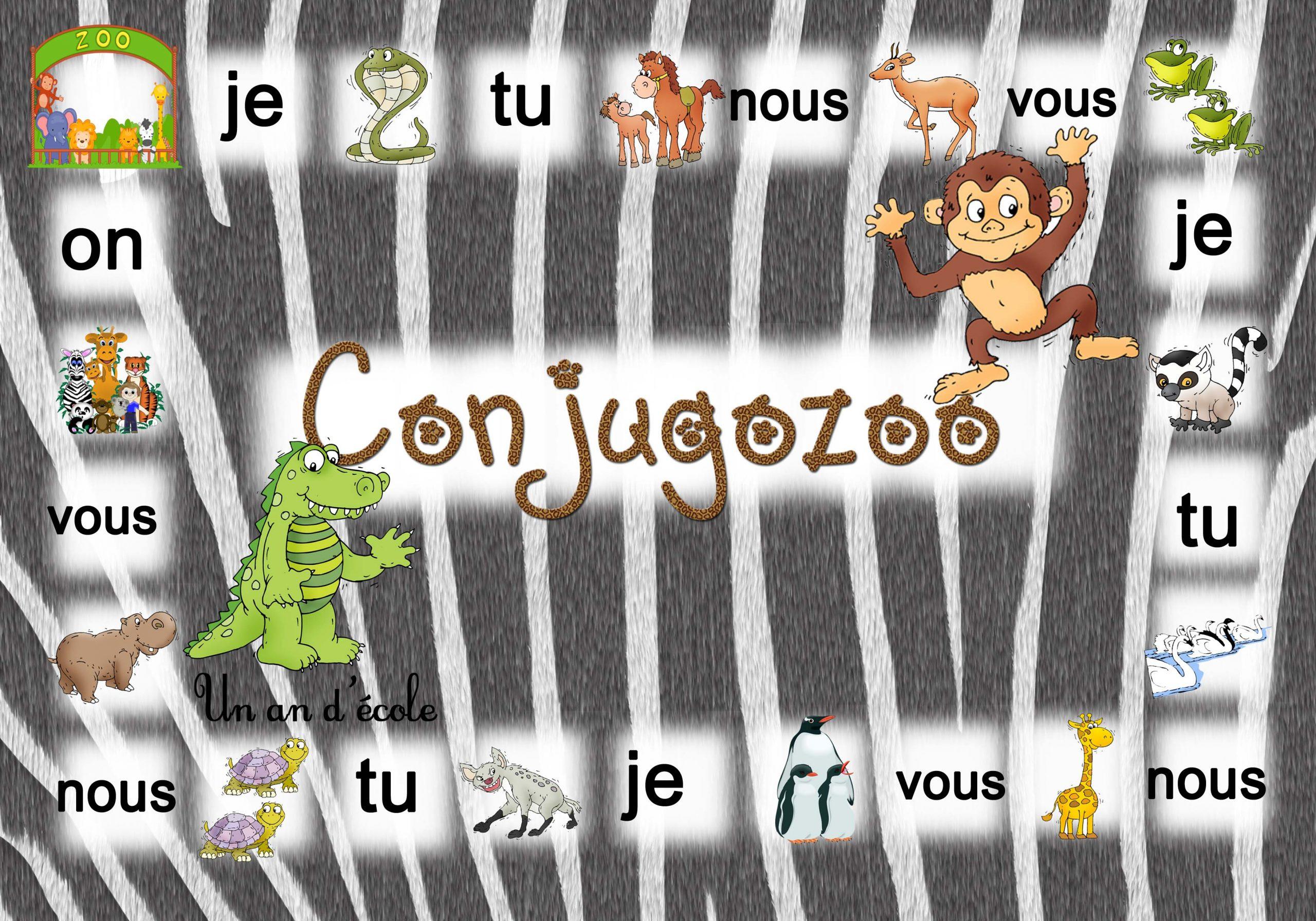 Conjugozoo : Jeu Pour Conjuguer Du Ce1 Au Cm2 En Passant Par avec Verbe Jeux