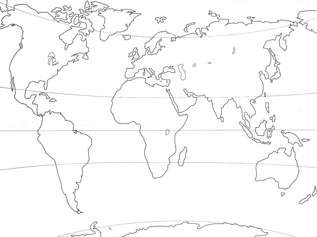 Continents Et Océans - Les Cm1-1 avec Carte Du Monde À Compléter En Ligne
