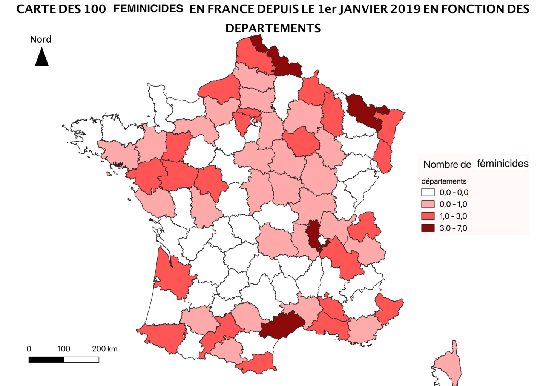Contours Des Féminicides En France | Veille Cartographique 2.0 destiné Département 09 Carte