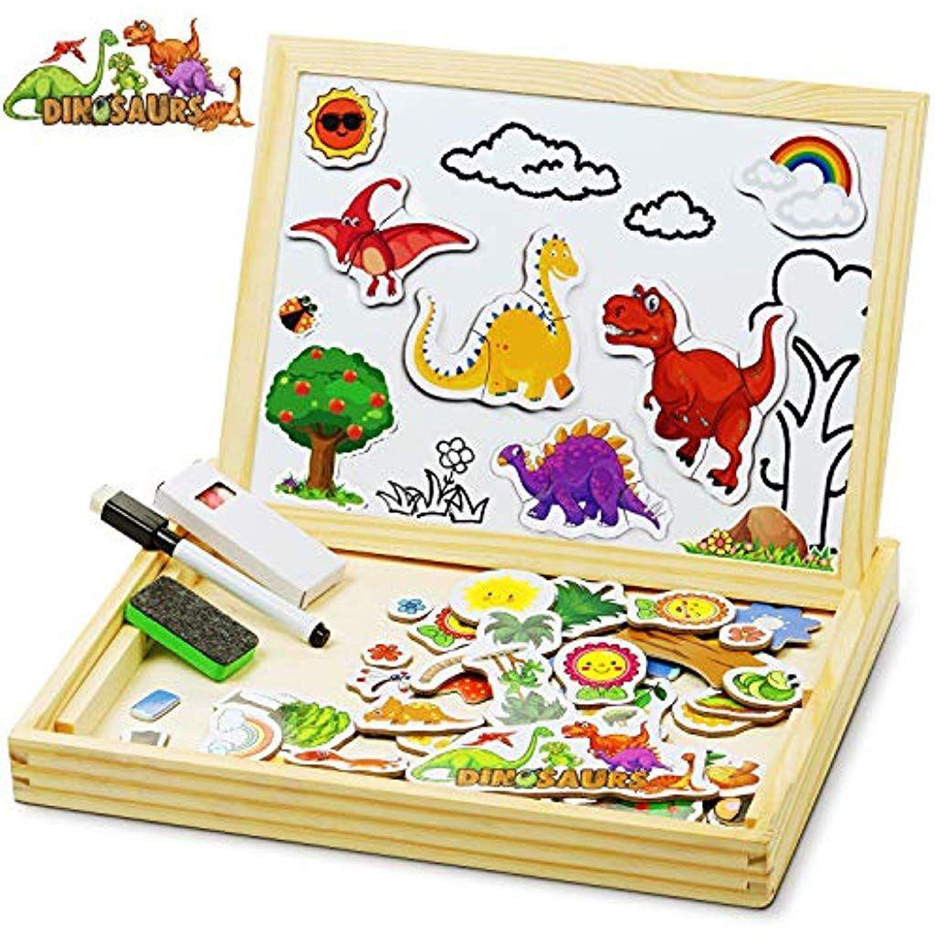 Cooljoy Bois Magnétique Puzzle En Bois 118 Pièces Motif intérieur Puzzle Fille 3 Ans