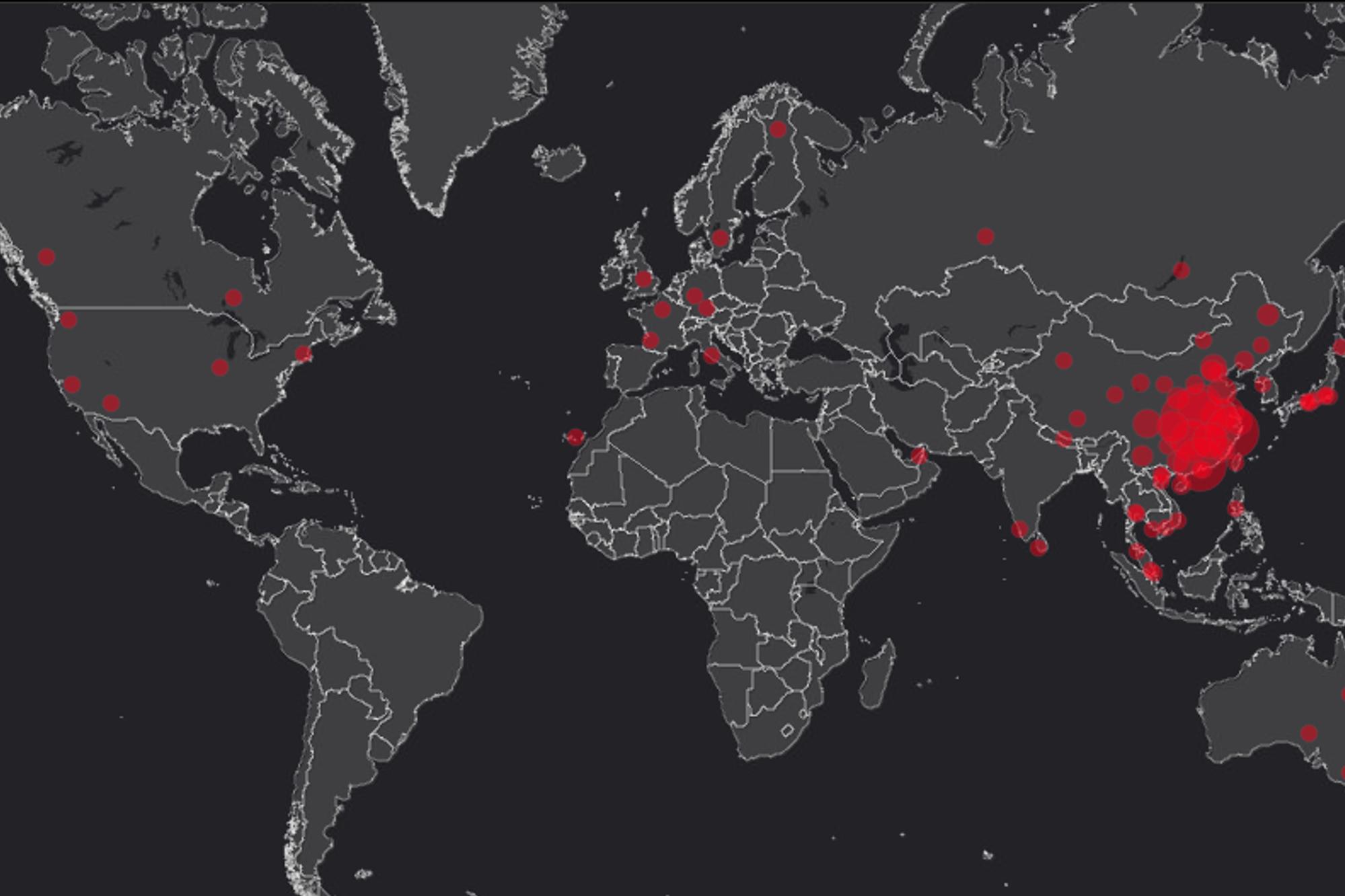 Coronavirus : Une Carte Permet De Suivre La Propagation Du destiné Carte Du Monde À Compléter En Ligne