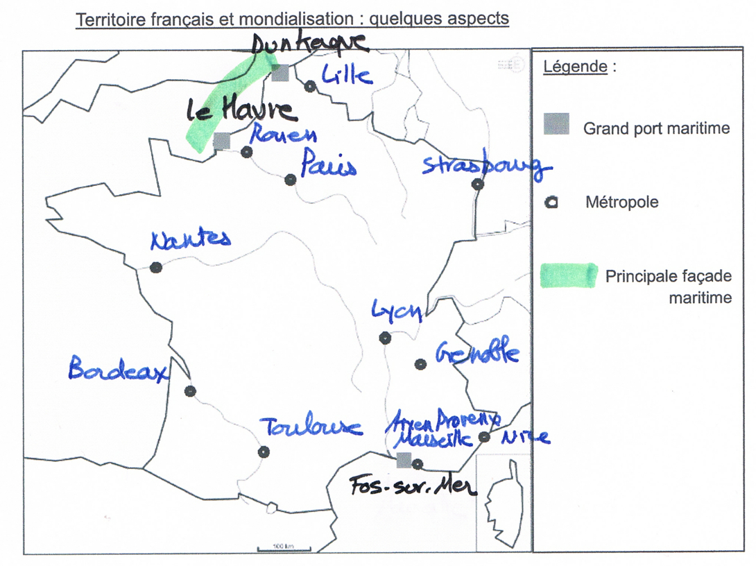Correction Histoire Géographie Emc Pondichéry 2017 - Brevet serapportantà Exercice Carte De France